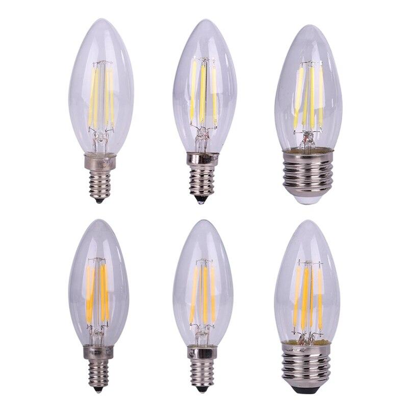 Antique style light bulbs Tungsten vintage Edison lamp G35 Warm White E12 E14 E27 220V Halogen Bulbs Lighting