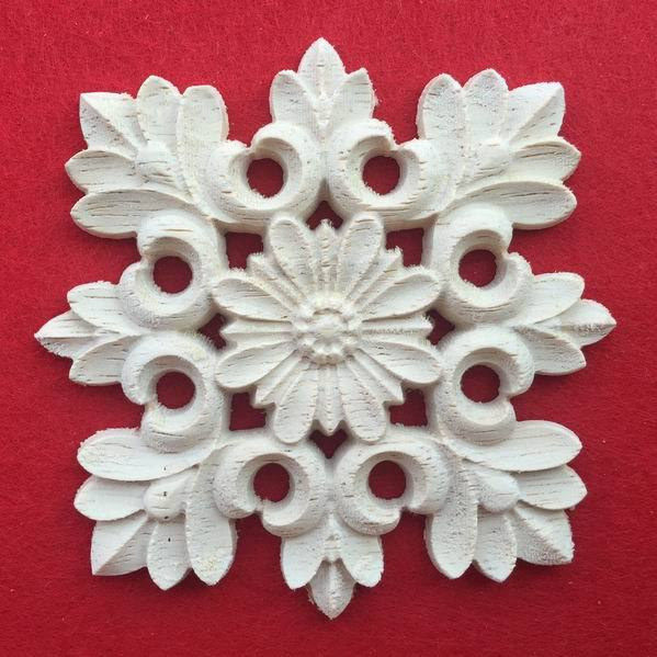 Kitchen Cabinet Appliques: Wood Carving Dongyang Wood Carving Square Corners Flowers