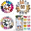 2016 nueva moda de Nueva muchachos de las muchachas de Cuero suave de LA PU de oro suede Mocasines Bebé inferiores suaves Primeros Caminantes niño franja niño zapatos