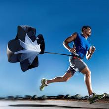 Men Women Speed Resistance Training Parachute Running Chute Soccer Football Umbrella Black 1Pcs