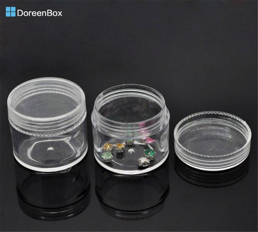 Doreen Box Hot-  6PCs Loose Bead Storage Container Tins 3.8x3.3cm(1 4/8