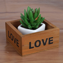 Natural Wooden Storage Box for Home Decor