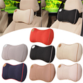 New 1Pcs Universal Car Comfort Head Rest Pillow Pad Space Memory Fabric Polyester Head Neck Rest Cushion Car-Covers 7 Colors