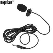 Portátil 1.5 m Externo 3.5mm Handfree Mini Colar Com Fio Clipe de Lapela Microfone De Lapela Para Phonce PC Portátil Loundspeaker