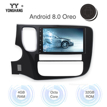 8 2 din Car Radio Android 8.0/7.1 for Mitsubishi Outlander 2014 2015 Multimedia Support Rockford Amplifier Built-in Gps цена