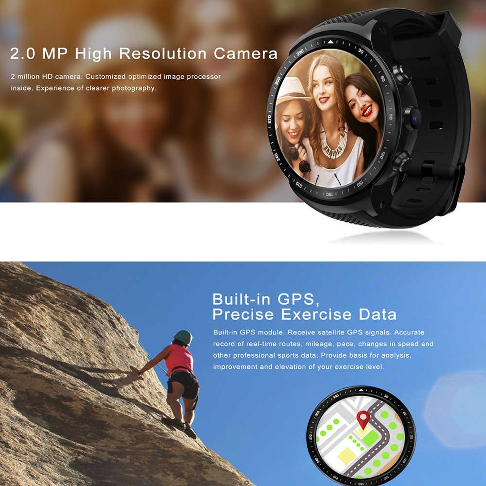 新しい Zeblaze トールプロ 3 グラム GPS スマートウォッチ 1.53 インチ 1 ギガバイト + 16 ギガバイトの Android 5.1 MTK6580 1.0 2.4ghz sim 天気指紋スマート腕時計の電話