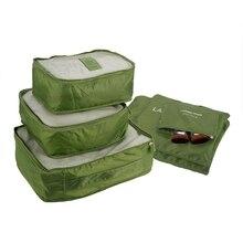 Alishebuy 6PCS Travel Luggage Bag Clothes Organizer Large Medium Small Size Pouch Handbag Suitcase