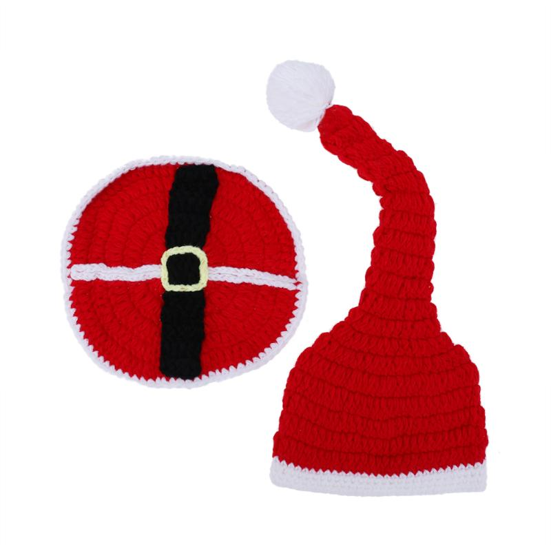Baby Christmas Hat  Knitting Wool Soft Baby Hat Cute Cartoon Animal Design Suit Photography Clothing Set Props Chrismas Gift