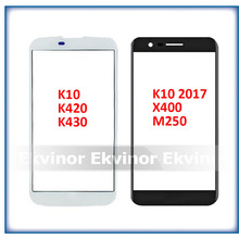 10pcs Front Panel Glass For LG K10 LTE K420N K430 K430DS F670 K10 2017 2018 X400 M250N Touch Screen LCD Display Outer Glass
