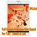 """3 unids/lote Protector de Pantalla Para 7.85 """"Supra M845G 3G/QUMO VEGA 782 Original de la Tableta de Clear Protector de Pantalla Completa Film Envío Gratis"""