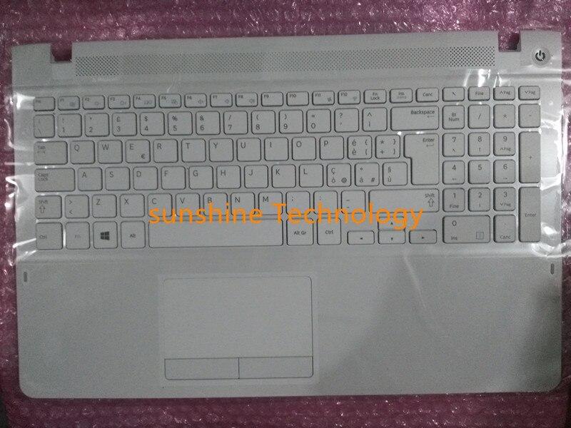 Italia nuevo teclado portátil con touchpad palmrest para samsung NP470R5E 510R5E 370R5E 450R5E NP470R5E blanco