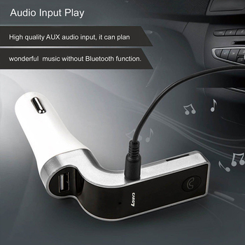 Bluetooth Handsfree Car Kit FM wireless transmitter MP3 music player USB 3.5mm audio cable connect support TF card USB charging 4