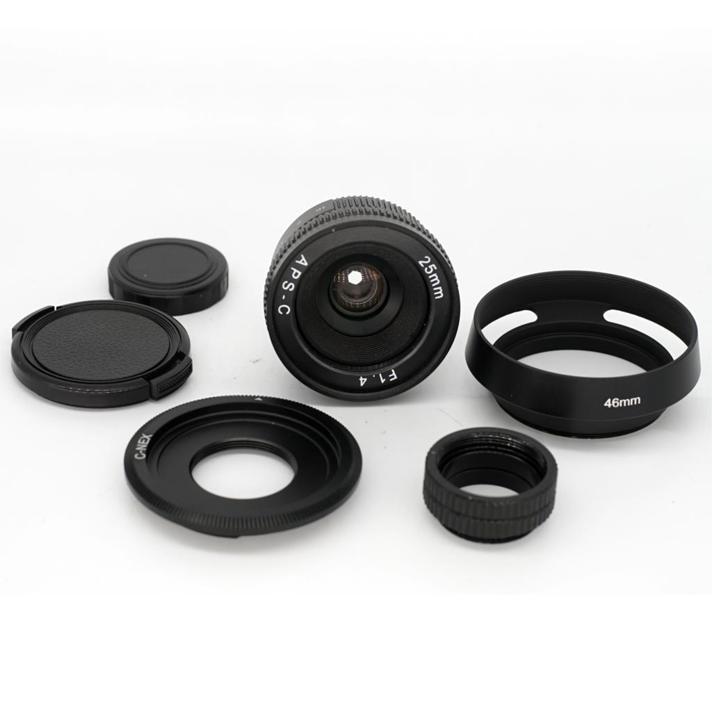 25mm F1.4-16 APS-C CCTV TV Movie c mount Lens for Sony NEX3/5T/6/7 A5000 A6000 A5100 A7S A7R A7II mirrorless camera