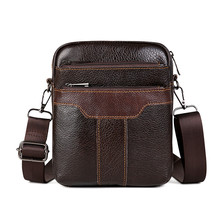 HUANILAI Mens Bag Genuine Leather Shoulder Bags Cowhide Messenger  Crossbody Retro Multifunction Handbags TY002