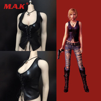 1/6 Scale Female Sexy PH UD 4.0 Black Leather Vest Clothe Set Fit 12'' Female Action Figure Doll Toys Accessories