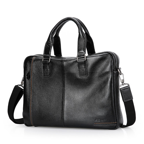 Business Style Mens Handbag Large Capacity High Quality Messenger Bag Geuine Leather Causal TotesBusiness Style Mens Handbag Large Capacity High Quality Messenger Bag Geuine Leather Causal Totes