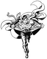 SUPER HERO MAN COOL FOR CHILDREN BOY KIDS BEDROOM WALL ART STICKER VINYL CUT TRANSFER DECAL