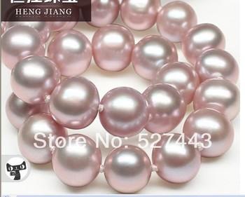 Trasporto libero all'ingrosso>> alto lustro aaaa 9.5-11mm vicino rotonda collana di perle d'acqua dolce