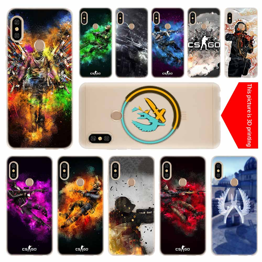 Cellphones & Telecommunications Supply Cs Go Cool Gun Asiimov Pattern For Xiaomi Mi6 Mi 6 A1 Max Mix 2 5x 6x Redmi Note 5 5a 4x 4a A4 4 3 Plus Pro Silicone Shell Cases Half-wrapped Case