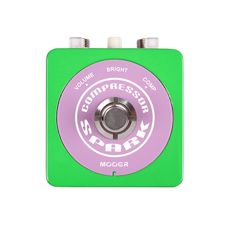 Mooer Single Compressor Effects Guitar Pedal Spark Series True Bypass Design mooer ensemble queen bass chorus effect pedal mini guitar effects true bypass with free connector and footswitch topper
