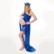 8ce594b5a Vestido de lactancia 2018 nuevo cordón azul vino rojo verde menta púrpura  ropa de embarazo largo barato maternidad fotografía pr.