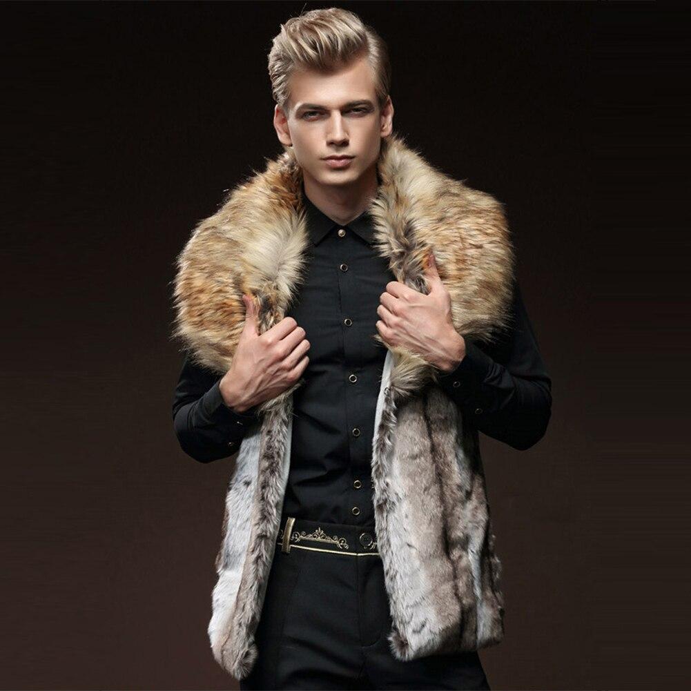 New mens fur coat winter mens self-cultivation vest imitation rex rabbit fur hair hair collar thickening HN146