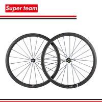 Новые 700C довод углерода Колесная 38 мм матовая дорожный колеса велосипеда Велокросс