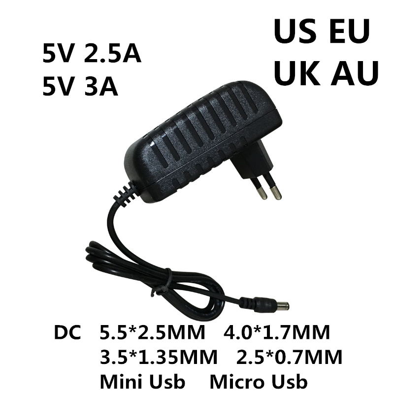 DC 5V 0.5A 0.8A 1A 2A 2.5A 3A AC 100-240V Converter power Adapter 5 V Volt 1000MA Switch Power Supply Charger Mini Micro Usb-2