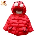 Monkids Down Jacket for Girls Winter Thickening Outerwear Coats Soild Down Parkas Children's Clothing Clothes Kids Coat Jacket