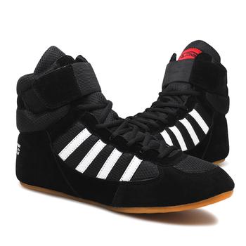 USHINE szkolenie zawodowe buty krowa mięśni podeszwa sznurowane buty trampki buty bokserskie autentyczne buty zapaśnicze man tanie i dobre opinie Oddychające Spring2019 Pasuje prawda na wymiar weź swój normalny rozmiar YS06 Mesh (air mesh) Profesjonalne Dla dorosłych