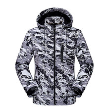 Outdoor man mountaineering Hooded Jackets Camouflage warm duck down spring autumn winter coat Camping travel climbing choth