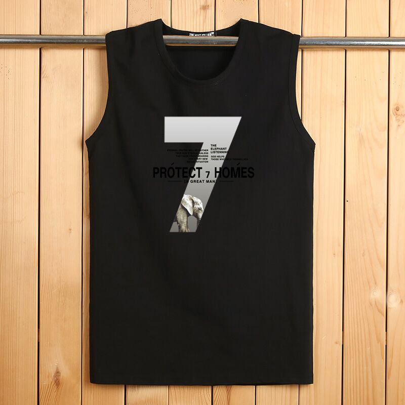 2020 Tank Tops New Cotton Men's With Sleeveless T-shirt And Loose  Cutting For Recreational Sports