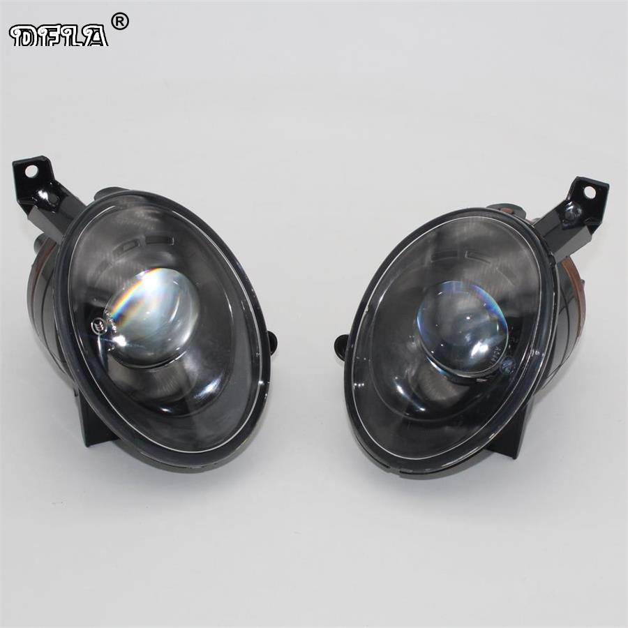 2pcs Car Light For VW Caddy 2K MK2 2011 2012 2013 2014 2015 Car-styling Front Fog Light Fog Lamp With Convex Lens projector lens front fog lights for vw new caddy