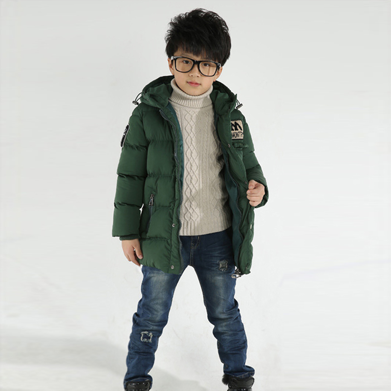 2017 winter children boys down jacket coat fashion hooded thick solid warm coat kids winter clothing outwear for 4-12T 3 colors kids winter jackets 2017 new turn down solid children jacket thicken warm winter boys coats pu leather kids outwear 3 12t