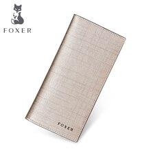 FOXER wrand Для женщин телячья кожа бумажник и кошелек модные дизайнерские женские длинные Женские Кошельки