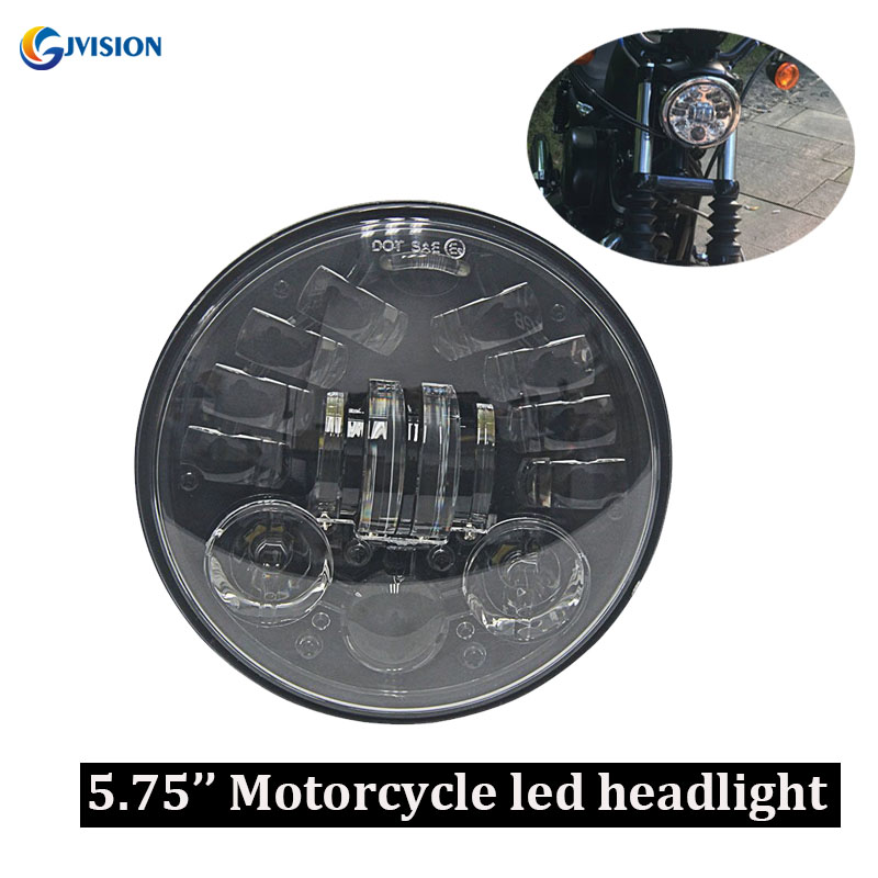 5.75 Inch Motorcycle Projector LED Headlight With White DRL Amber Turn Signal For Harley Sportster 1200 72 48 883 Street 500 750