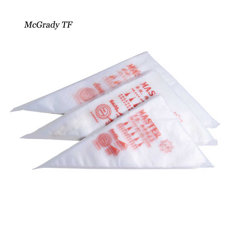 Mac New 100Pcs/Pack 30*22cm Disposable Piping Bag Icing Fondant Cake Cream Decorating Pastry Tools