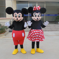 2PC High Quality Mouse Mascot Minnie Mouse Mascot Costumes Adult size Cartoon thanks Halloween Carnival Costume