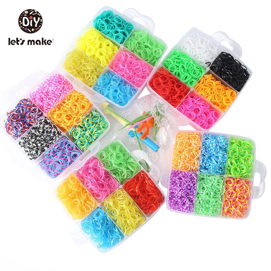 c4300fc03613 Vamos a hacer goma 7200 pc/4 capas para pulseras Bandas de silicona de alta  calidad crazy Kids regalo DIY cuentas