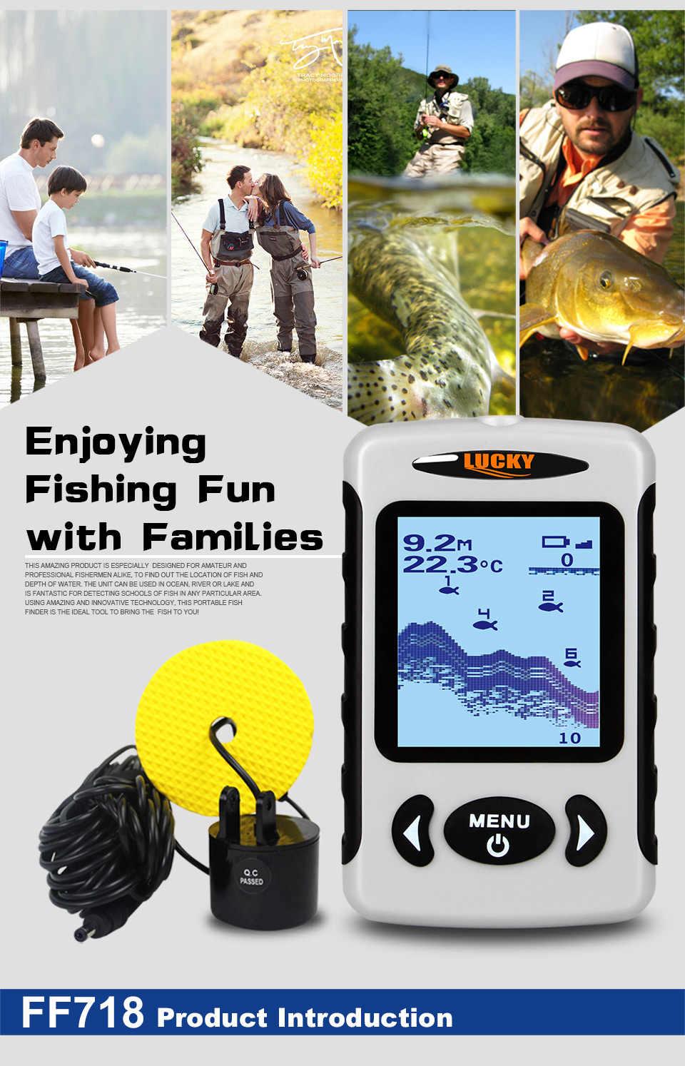 Russo Sonar Wireless Fishfinder Fish Finder Mare Contour Temp 100m 3280Ft Profondità Ecoscandaglio Sonar Eco-sirena Attrezzatura Da Pesca