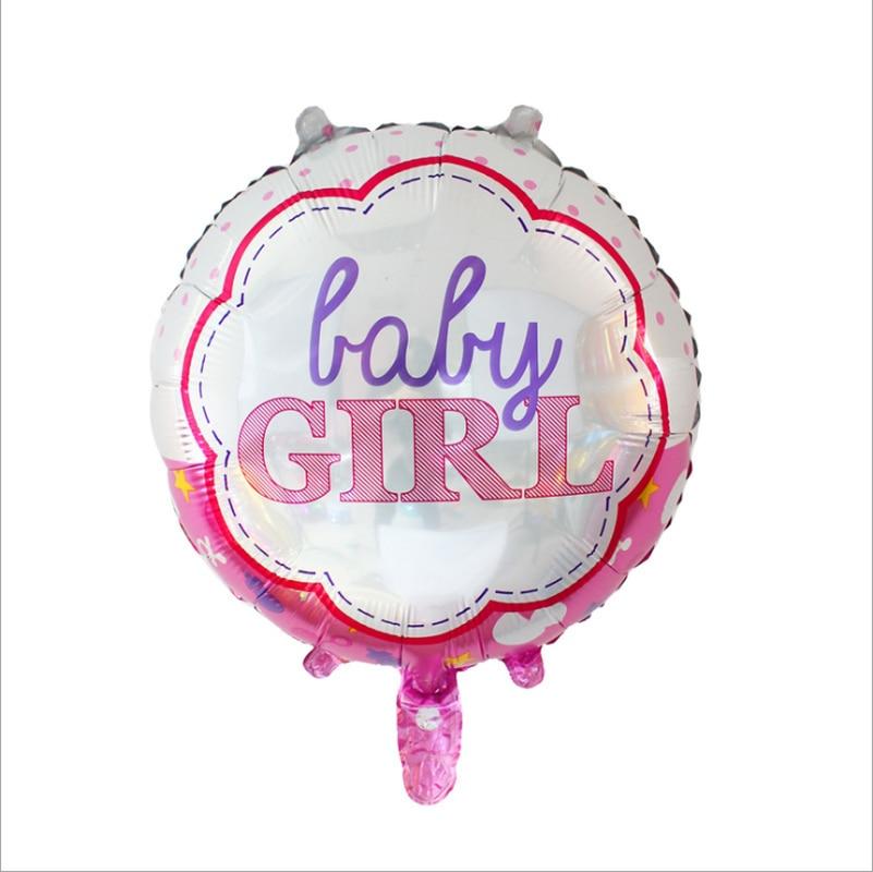 5 pçs/set 32 Polegadas Azul Menino Menina Rosa Festa de Aniversário Do Bebê de Alumínio Rodada e Coração Forma de Balão Foil 0-9 Dígitos Do Chuveiro de Bebê fornecer