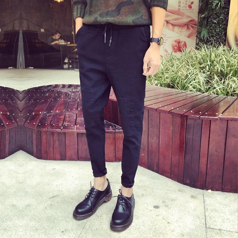 Nine Pants Men's Casual Pants Male Elastic Korean Version Slimming Panties Men Fall 9 Pants Trend Hundred 2019