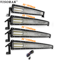 VISORAK Quad Row 22 32 42 52 Inch LED Bar 384W 564W 744W 924W Curved LED