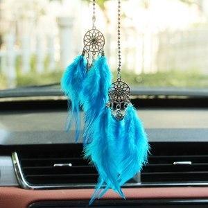 Image 3 - 車のペンダントアクセサリー手織ペンダント羽の夢のキャッチャーインテリア装飾ペンダントスタイルの家の壁の装飾羽