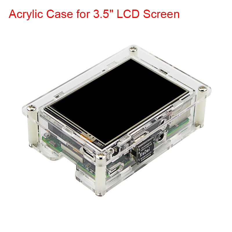 Raspberry Pi 3 Transparent Acrylic Case for 3 5 inch Touchscreen Raspberry Pi Clear Enclosure Box