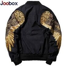 JOOBOX 2018 Новинка весна осень мужские куртки Черный Армейский зеленый вышивка куртка-бомбер мужская уличная брендовая одежда летная куртка куртка мужская