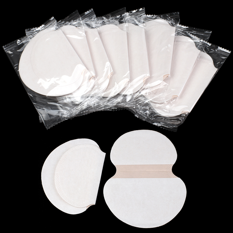 50Pcs/set Summer Deodorants Cotton Underarm Sweat Pads Disposable Absorbing Armpit Sweat Shield Guard Absorbing Pads For Women