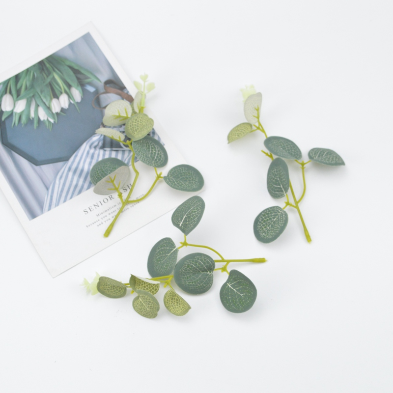 Artificial Flowers Christmas Decorations For Home Wedding Car Diy Gifts Box Wreaths Cheap Silk Roses Leaf Fake Eucalyptus Leaves