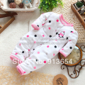 new 2017 spring autumn baby clothes kids rompers baby girl long sleeve overall newborn dot single polar fleece jumpsuit