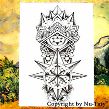 SHNAPIGN Maya totem Tatuaggio Temporaneo Body Art Flash Tattoo Adesivi 21*15 cm Impermeabile Car Styling Decorazione Della Parete di Casa Sticker(China)